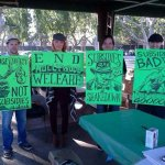 protesters green