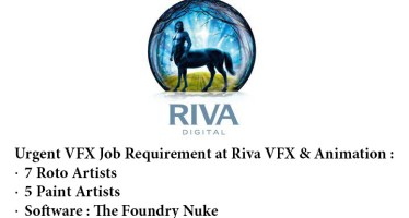 Job Opening of Roto and Paint Artists at Riva Animation and VFX