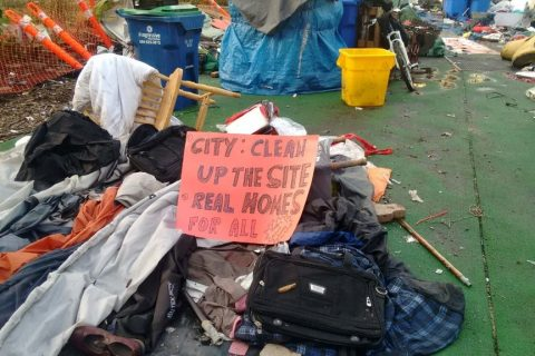 Demands from tent city residents after stopping the injunction threat