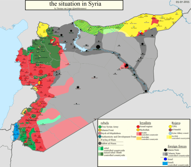 Syria forces map