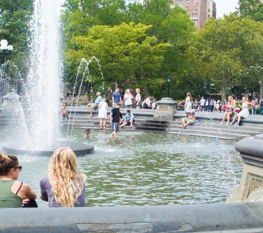 Washington Square Park Fountain NYC