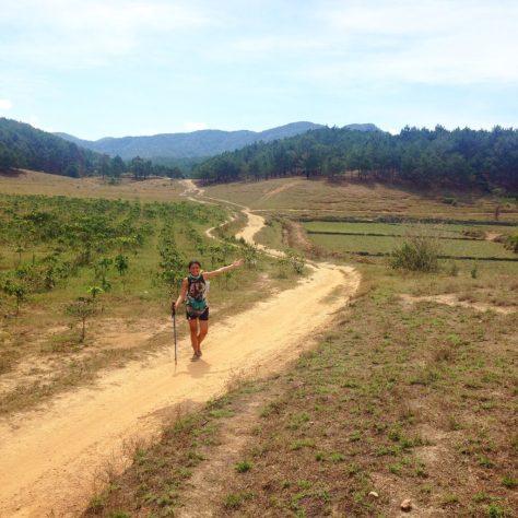 Ta Nang trek's visible trails