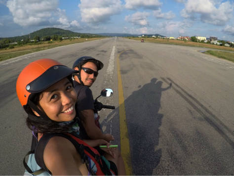 Airplanes used to land here! The old airport at Vo Van Kiet Street. Phu Quoc Itinerary