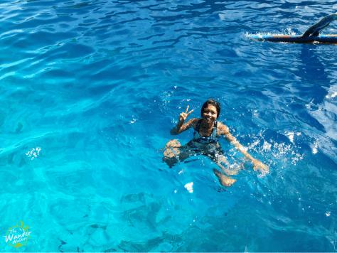 Inviting clear blue seawater of El Nido