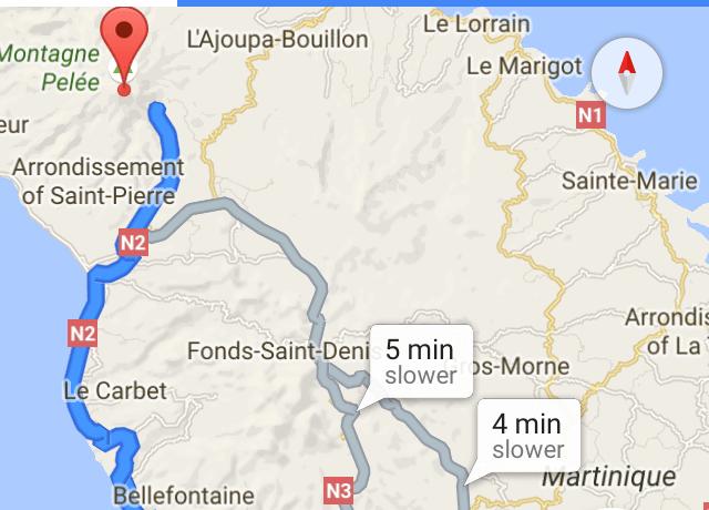 google maps martinique