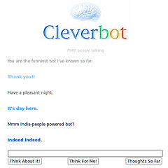 Fun with Cleverbot: on eBay feedback DSRs and PayPal