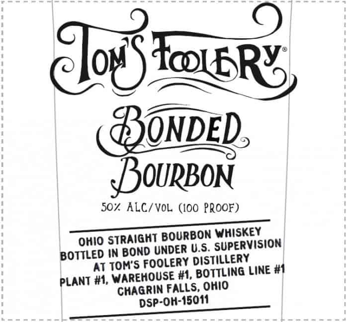 Tom's Foolery Bonded Bourbon