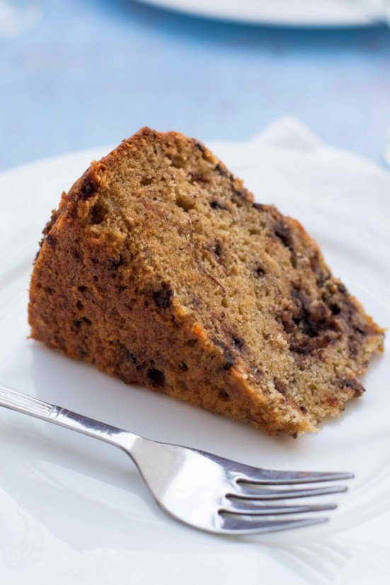 Banana Chocolate Chip Cake 3