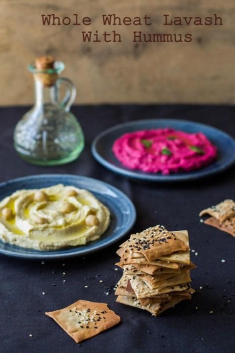 Whole Wheat Lavash With Hummus 2