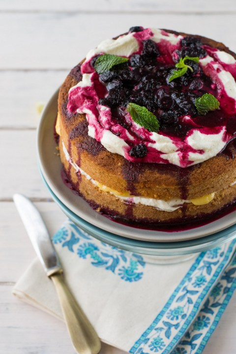 Lemon Curd & Blueberry Gateau 2