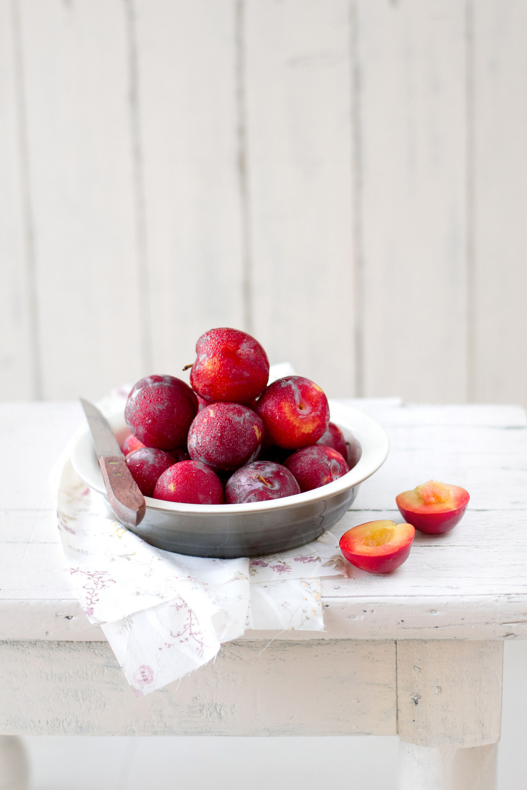 Plum Sorbet With Rosemary Shortbread Cookies - The White ...