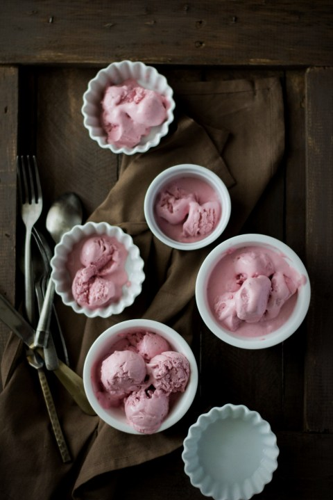 Roasted Strawberries & Buttermilk Ice Cream {Egg Free} - The White ...