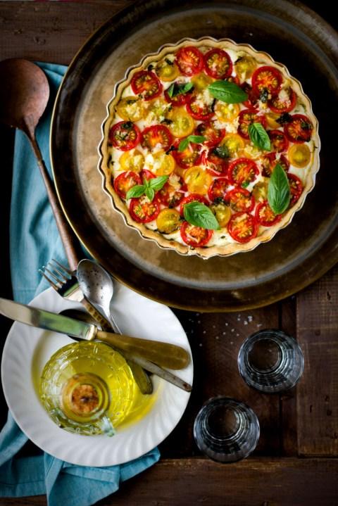 Tomato Goat Cheese & Basil Pesto Tart 7