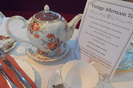 Vintage afternoon tea at the White Swan Hotel