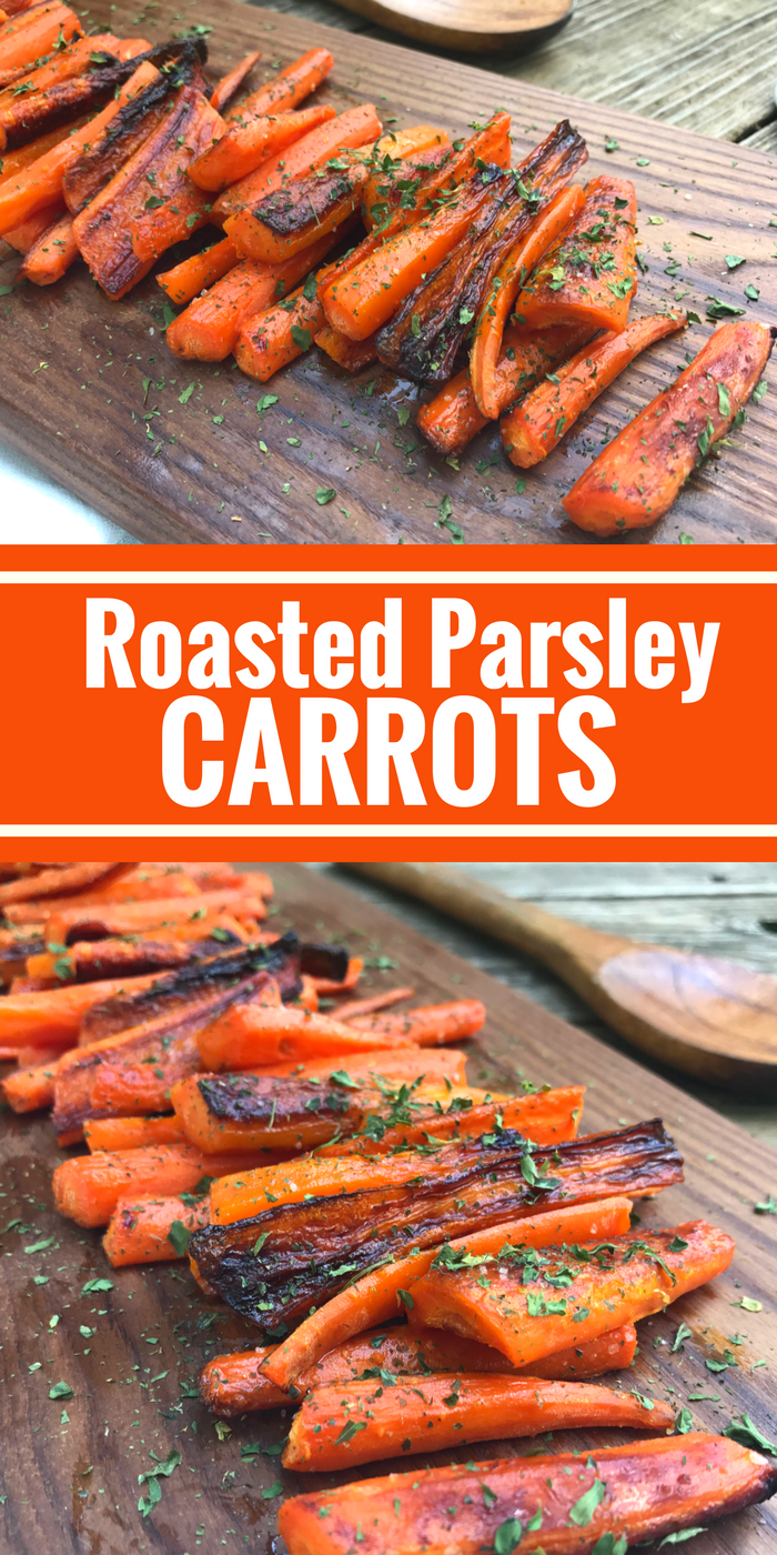 Roasted Parsley Carrots by The Whole Cook