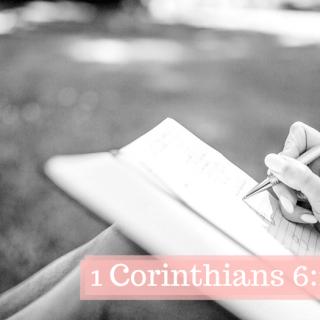 1 Corinthians 6:1-20
