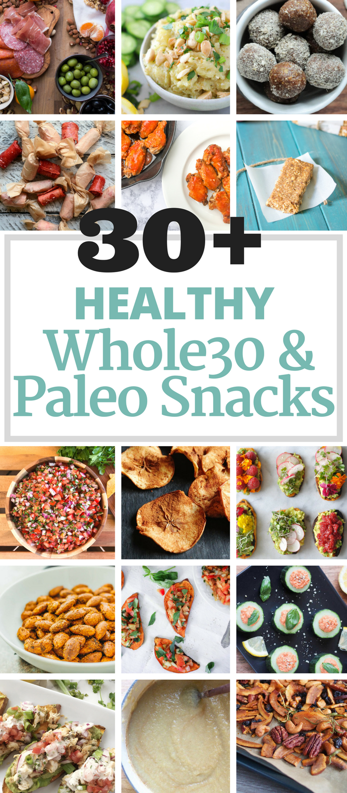 30+ Healthy Whole30 & Paleo Snacks via The Whole Cook