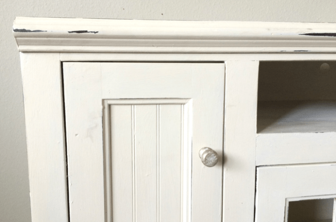 DIY TV Stand Makeover | Annie Sloan Chalk Paint in Old White