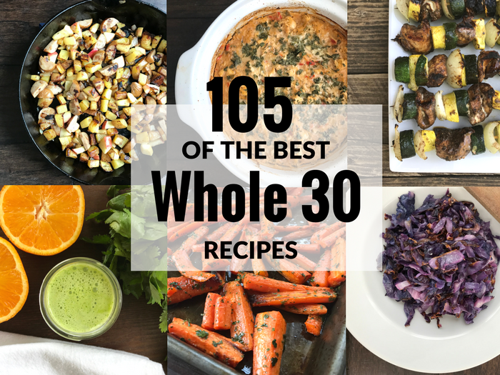105 of the Best Whole 30 Recipes via The Whole Cook FEATURE 1