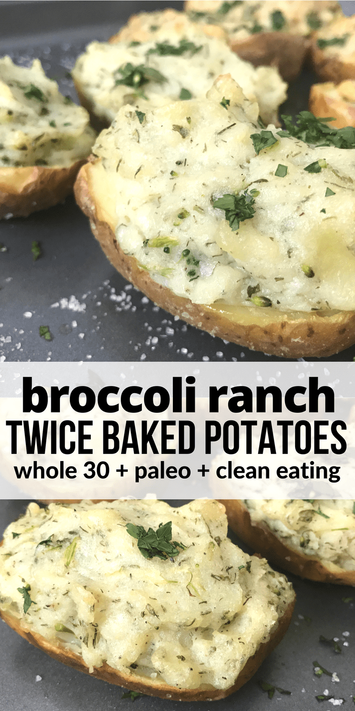 Broccoli Ranch Twice Baked Potatoes PINTEREST