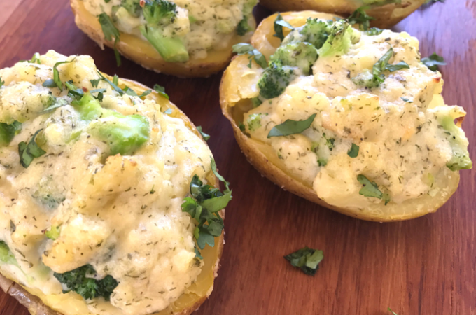 Broccoli Ranch Twice Baked Potatoes