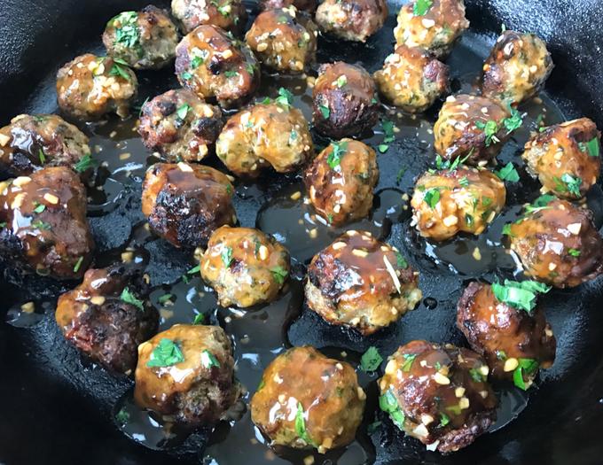 Pineapple Teriyaki Turkey Meatballs FEATURE