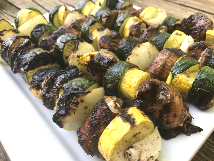 Balsamic Chicken Kabobs ON PLATE