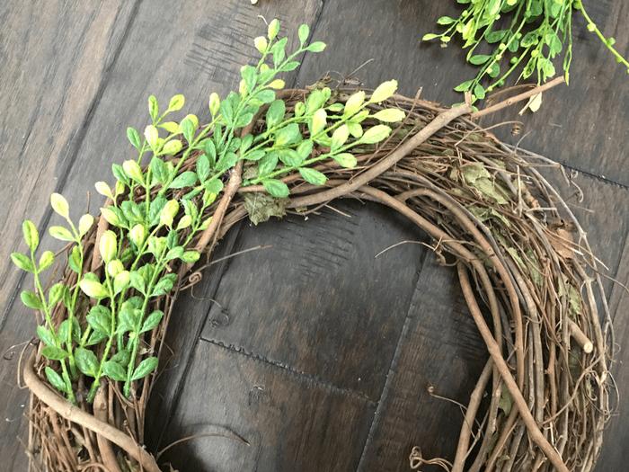 Faux Boxwood Wreath GLUING GREENERY