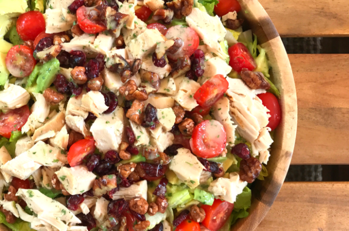 Avocado Cranberry Chicken Salad by The Whole Cook HORIZONTAL FEATURE