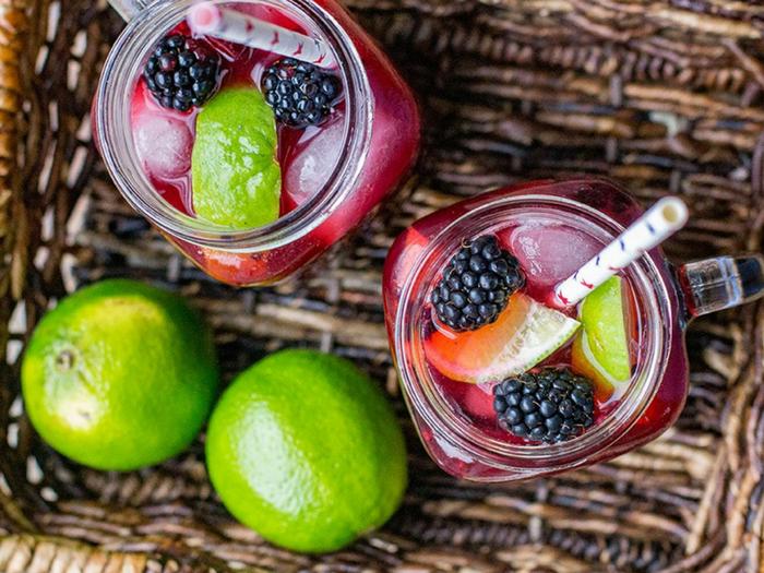 Blackberry Lime Margaritas by Nourish & Fete