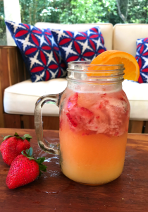 Orange Strawberry Fizz by The Whole Cook FEATURE