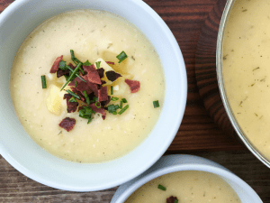 Creamy Potato Soup by The Whole Cook HORIZONTAL FEATURE