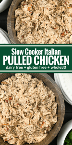 Slow Cooker Italian Pulled Chicken by The Whole Cook