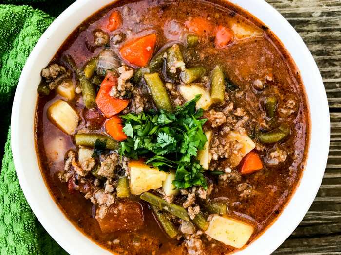 Healthy 30 Minute Hamburger Soup