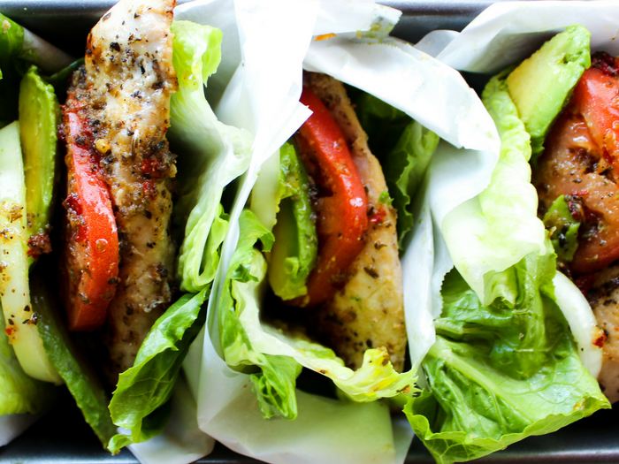 Italian Marinated Chicken Lettuce Wraps