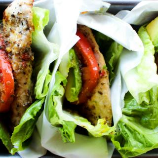 Italian Marinated Chicken Lettuce Wraps