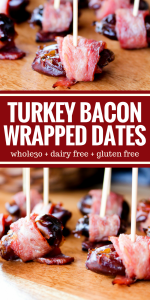 Turkey Bacon Wrapped Dates by The Whole Cook