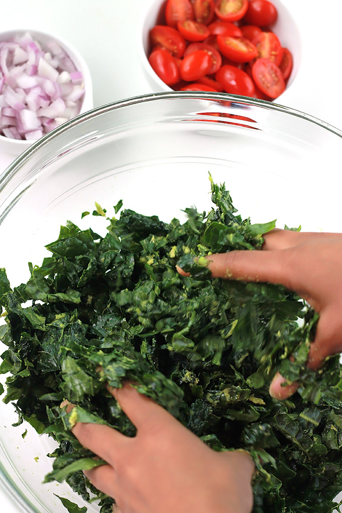 Massaging Kale