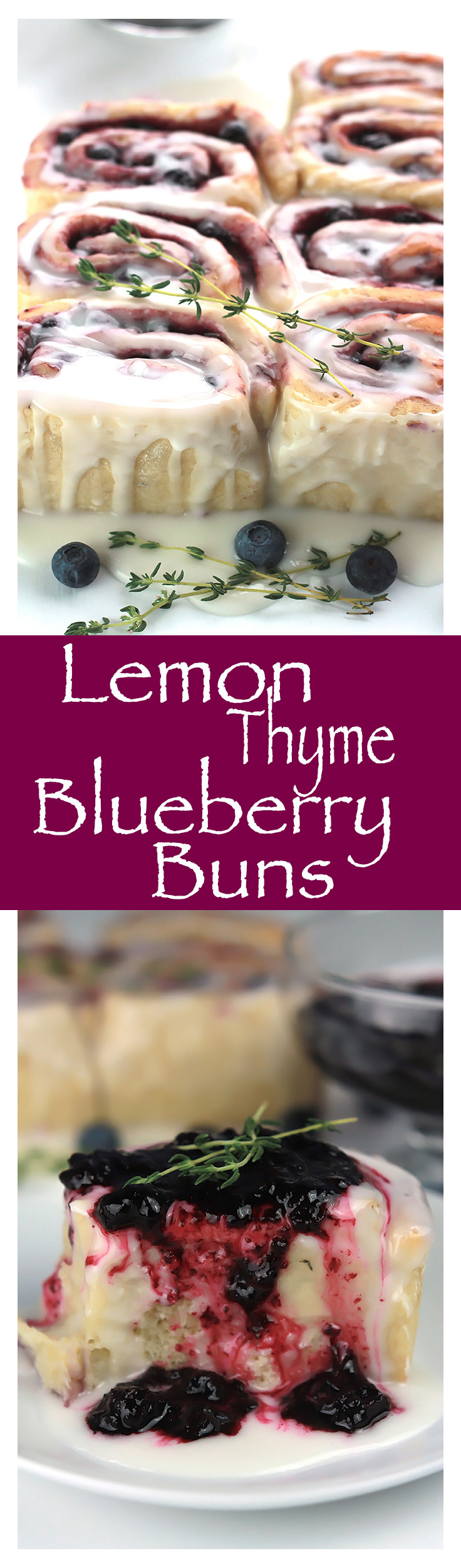 Easy and delicious, Lemon Thyme Blueberry Buns , perfect for a brunch gathering or an afternoon snack with a spot of tea.