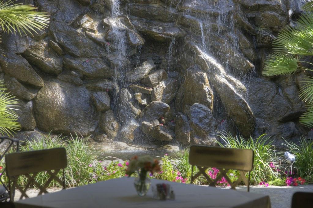 Breakfast Terrace Waterfall