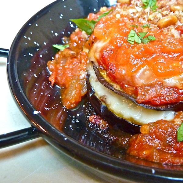 eggplant parmigiana individual servings, comfort food