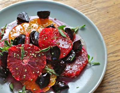 Blood Orange, Tangerine and Beet Salad with Maple - Orange Vinaigrette