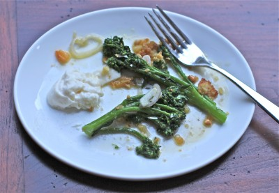 Broccolini with Burrata