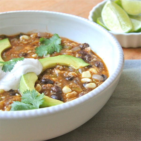Black Bean, Tomatillo, and Corn Soup : The Wimpy Vegetarian