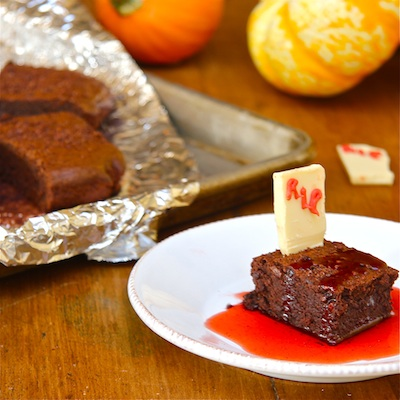 Graveyard Brownies : The Wimpy Vegetarian