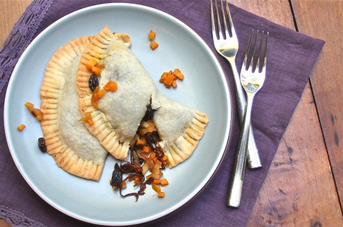 Butternut Squash Caramelized Onion Empanadas slider