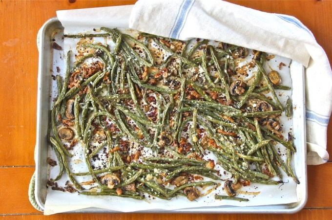 Green Bean 'Casserole' Redux: #SundaySupper