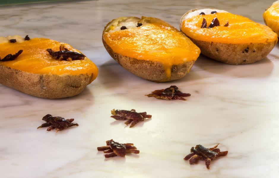 twice baked potatoes for Halloween