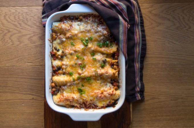 Vegiladas – Vegetarian Enchiladas: #SRC