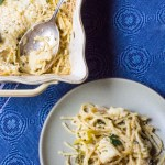 Cauliflower Tetrazzini with Poblano Peppers